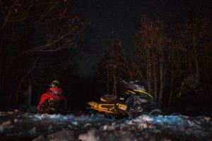 SkiDoo Snowmobile and Stars