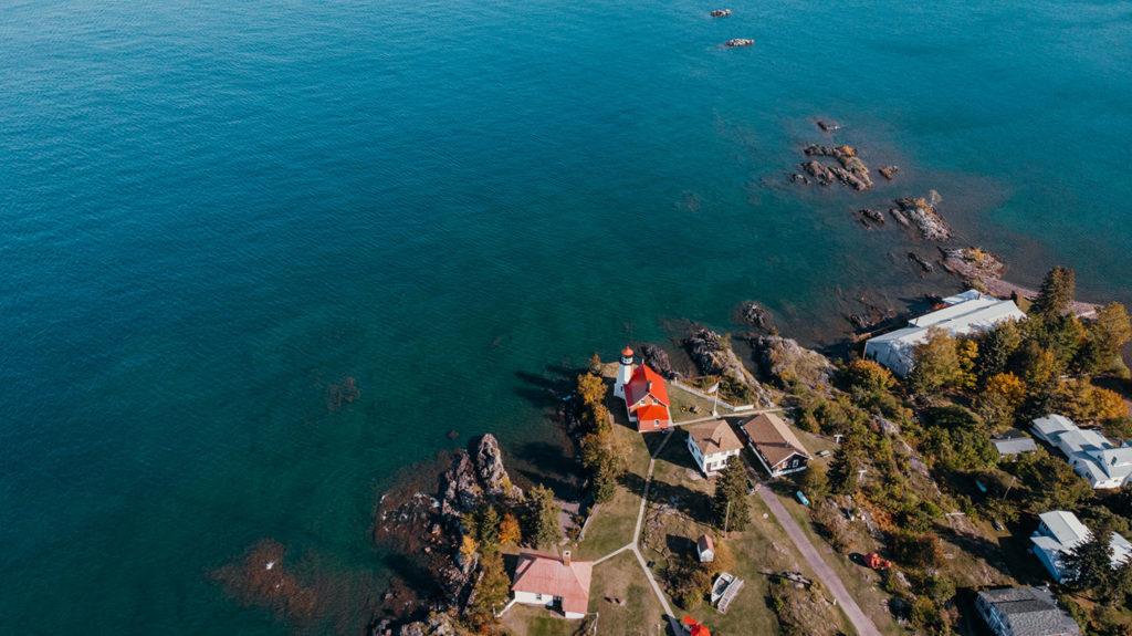 Eagle Harbor Lighthouse Drone Photography
