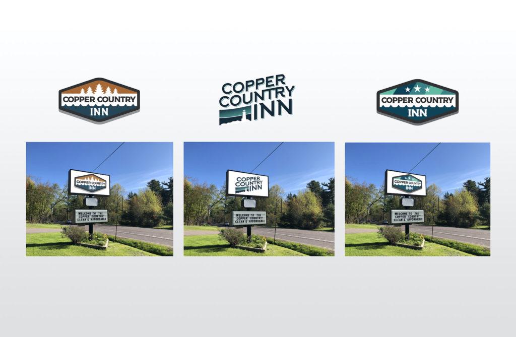 Logo Design Variations for Copper Country Inn Houghton, MI