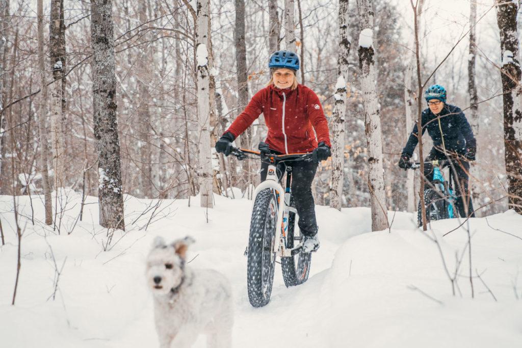 Outdoor Photography Snow Bike