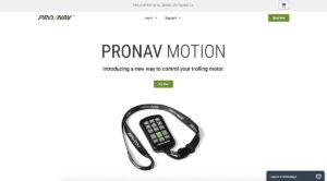Homepage Website Design for ProNav Marine