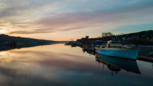 Drone Photo of the Ranger III in Houghton, Michigan